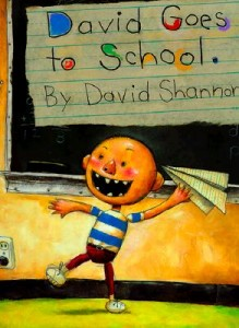 David goes to school