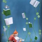 Reader, reading, books by Audrey Gessat)